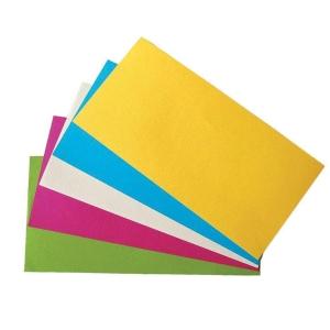 Nobo téglalap moderációs kártyák 9,5 x 20,5cm, 5 színben, 250 darab/csomag