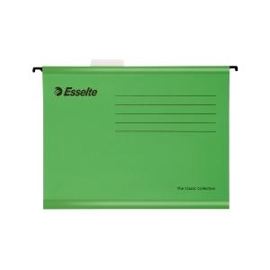 Esselte Classic függőmappák, A4-es dokumentumokhoz, szín: zöld, 25 darab/csomag