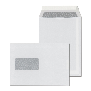 Szilikonos tasakok LC/5 (162 x 229 mm), bal ablak, fehér, 500 darab/csomag