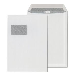 Enyvezett tasakok LC/4 (229 x 324 mm), bélésnyomott, fehér, 250 darab/csomag