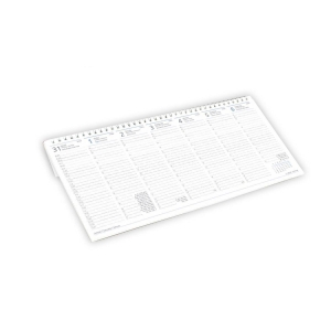 OPTIFORM A31 DESK CALENDAR WHITE PAPER