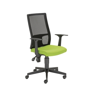 Filo irodai szék, hálós, permanens mechanika, zöld