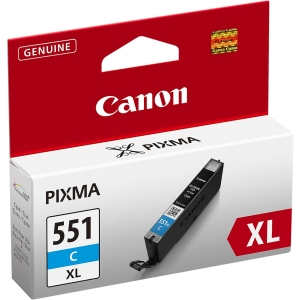 CANON tintasugaras nyomtató patron CLI-551C XL (6444B001) ciánkék