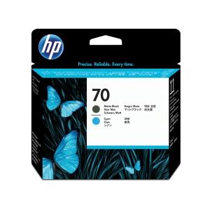 HP nyomtatófej 70 (C9404A) m. fekete/ciánkék