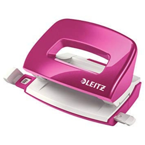 LEITZ WOW SERIES 50601 MINI PUNCH PINK - UP TO 10 SHEETS