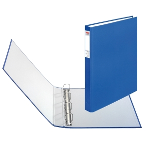 Herlitz 4-gyűrűs gyűrűskönyv PP 40 mm,  D  gyűrű - 25 mm, kék