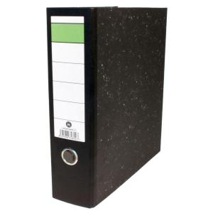 Emelőkaros iratrendező, fekete, gerincszélesség 8 cm