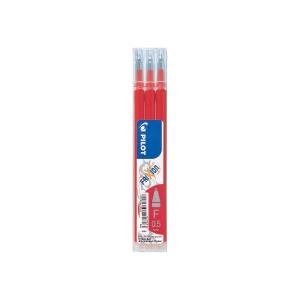 Pilot Frixion pót tollbetét, piros, 0,25 mm, 3 darab/csomag