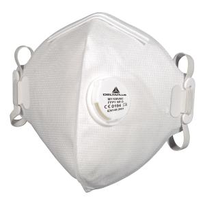 FFP1 szelepes hajtogatott légzésvédő maszk, hajtogatott, 10 darab/csomag