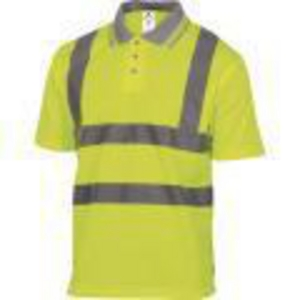 DELTAPLUS HV POLO WITH SHRT SLVES SIZE L