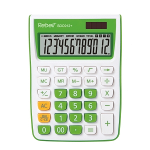 Rebell SDC912+ asztali számológép 12 számjegyű kijelzővel, zöld
