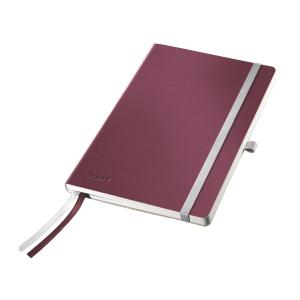 Leitz Style jegyzetfüzet A5, négyzethálós 5x5, piros