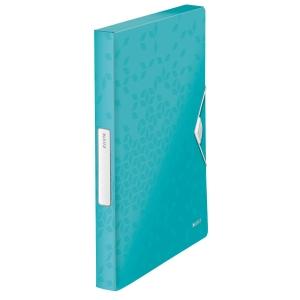 LEITZ 4629 WOW BOX FILE PP ICE BLU