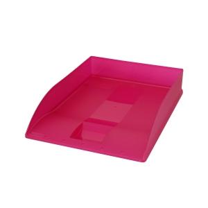 Herlitz irattálca A4, rózsaszín átlátszó