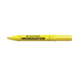 CENTROPEN 8552 HIGHLIGHTER C/TIP YELLOW