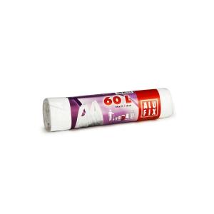 Alufix szemeteszsákok 10 mik., 60 l fehér, 20 db/tekercs