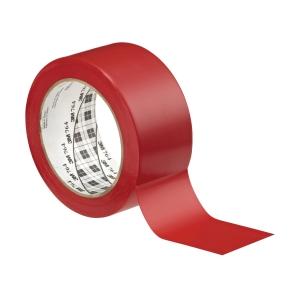 Padlójelölő vinil ragasztószalag, 50mm x 33m, szín: piros