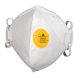 FFP2 szelepes hajtogatott légzésvédő maszk, hajtogatott, 10 darab/csomag