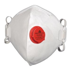 FFP3 szelepes hajtogatott légzésvédő maszk, hajtogatott, 10 darab/csomag