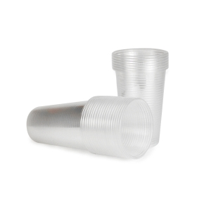 Átlátszó műanyag poharak 200 ml, 100 darab/csomag