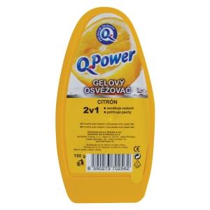 Q Power zselés légfrissítő tégelyben, citrom, 150 g