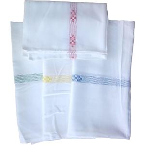 Textil konyharuha 50 x 70 cm, fehér-piros