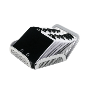 Sakota asztali névjegykártyatartó, ezüst