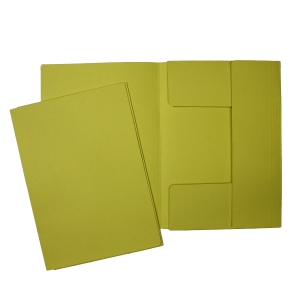 Hit Office classic iratgyűjtő 3 pólyával, sárga, 50 darab/csomag