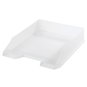 HERLITZ LETTER TRAY A4 WHITE TRANSPARENT