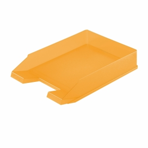 HERLITZ LETTER TRAY A4 ORANGE TRANSP