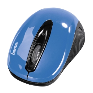 HAMA AM-7300 OPTICAL W/LESS MOUSE BK/BLU