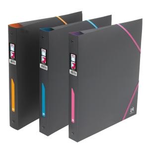 Elba gyűrűskönyv és iratgyűjtő 3 pólyával, fekete