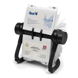 RV 450 forgatható névjegykártyatartó, fekete