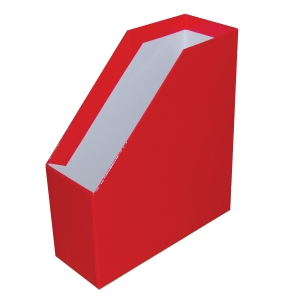 SOMOGY MAGAZINE RACK A4 11CM EXTRA RED