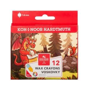 PK12 KOH-I-NOOR WAX CRAYONS