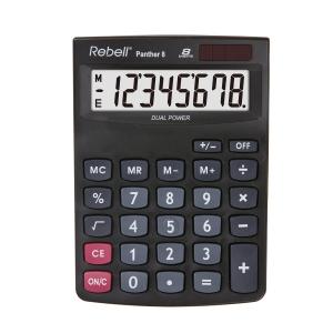 Rebell Panther asztali számológép, 8-számjegyű, 143 x 102 x 29 mm