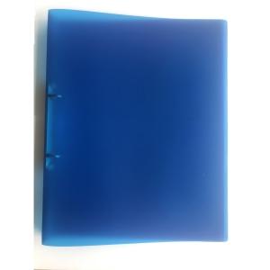 2-gyűrűs gyűrűskönyv PP 25 mm,  O  gyűrű - 20 mm, átlátszó kék
