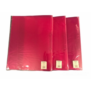 2-RING BINDER PP A4 25MM TRANSP RED