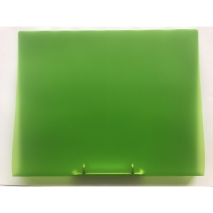 2-RING BINDER PP A4 25MM TRANSP GREEN