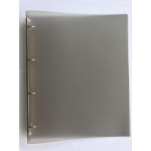 4-gyűrűs gyűrűskönyv PP 25 mm,  O  gyűrű - 20 mm, átlátszó szürke
