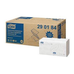 Tork 290184 hajtogatott ZZ papírtörlők, 200 lap/csomag, 20 csomag/karton
