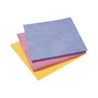 Allzweckwischtücher, 140 g/m2, gelb/blau/rosa, Set à 3 Tücher