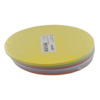 Moderationskarten, Oval 18,5x10,5 cm, Farben ass., Packung à 300 Stück