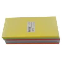 Moderationskarten, Rechteck 20,5x9,5 cm, Farbe ass., Packung à 300 Stück