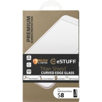 eStuff Schutzglas Titan Shield für Samsung Galaxy S8, 0.3 mm