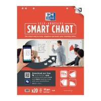 Flipchartblock Oxford Smart Chart, selbstklebend, blanko, 20 Blatt
