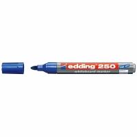 Whiteboard Marker Edding 250, Rundspitze, Strichbreite 1,5-3 mm, blau