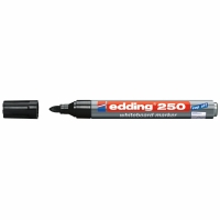 Whiteboard Marker Edding 250, Rundspitze, Strichbreite 1,5-3 mm, schwarz