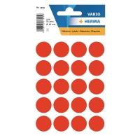 Etiketten Herma 1876, 19 mm, rund, leuchtrot, Packung à 100 Stück