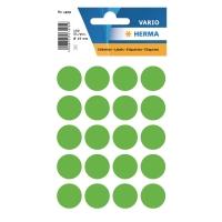 Etiketten Herma 1878, 19 mm, rund, leuchtgrün, Packung à 100 Stück